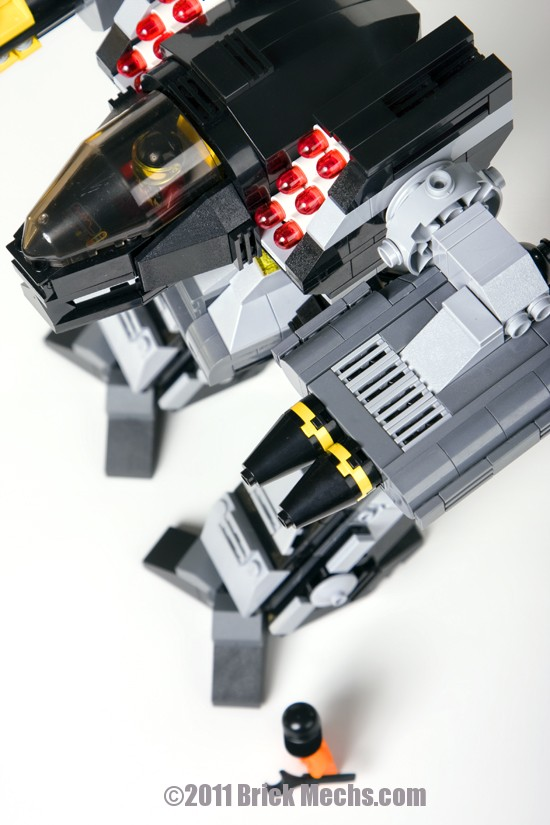 black lanner mech lego model 12