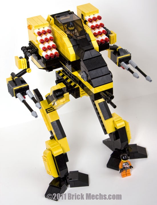 yellow vulture mech lego model 11