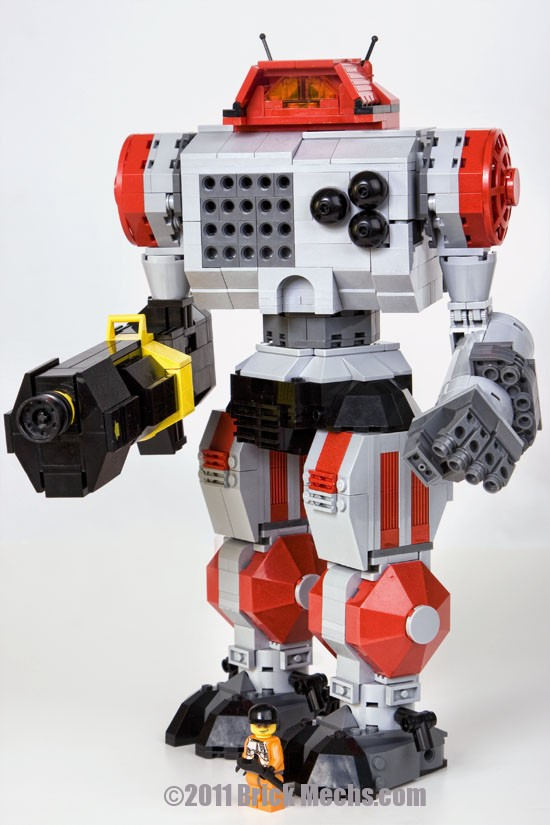 Highlander mech lego model 3