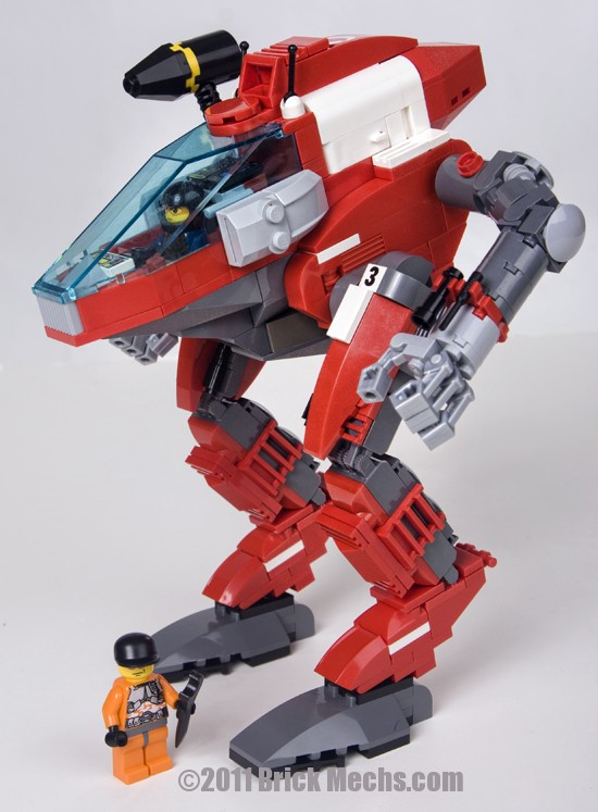 Bloodhound mech lego model 4